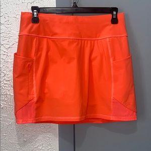 Athleta Orange Tennis Skirt Skort XS